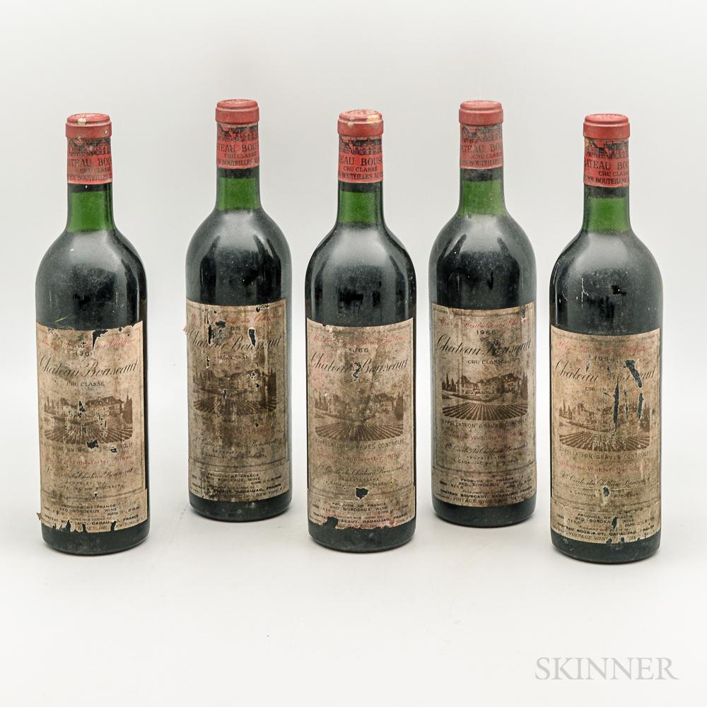 Chateau Bouscaut 1966, 5 bottles