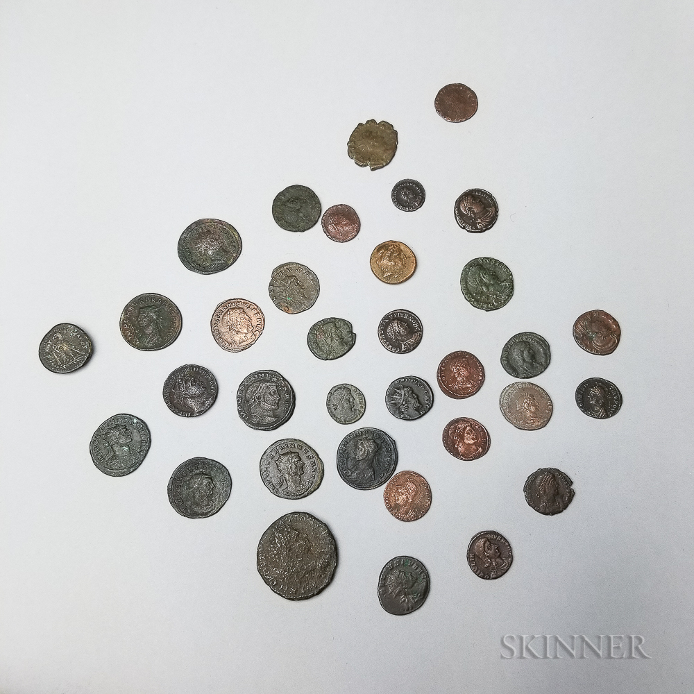 Thirty-four Mostly Ancient Roman Ae Coins