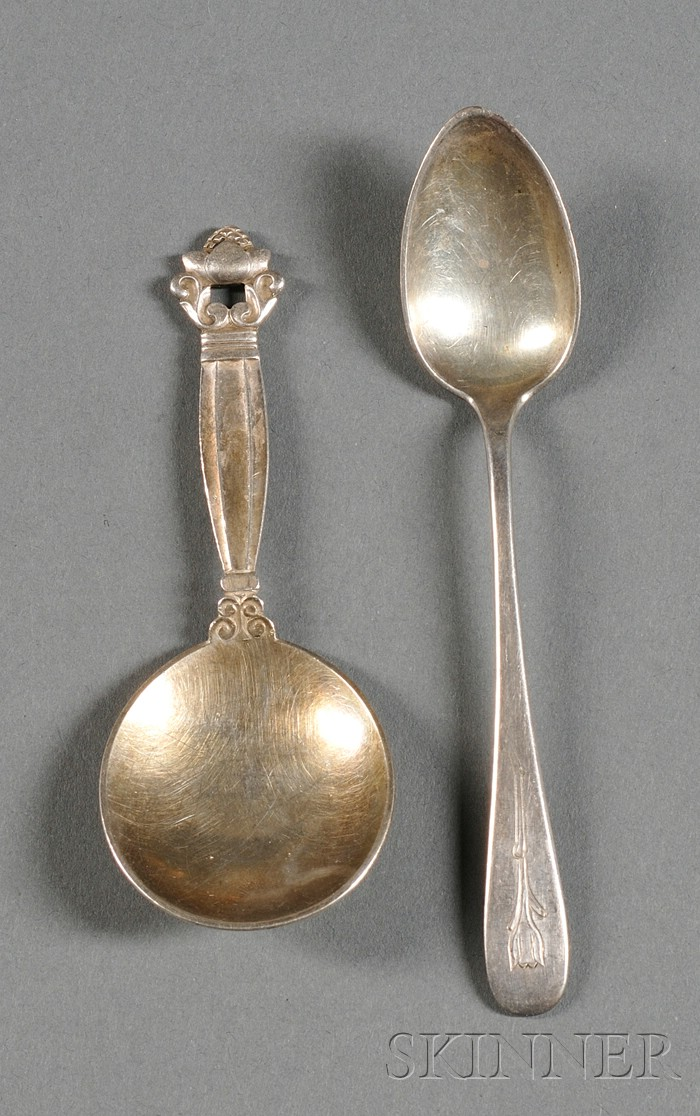 Arthur Stone and Georg Jensen Spoons