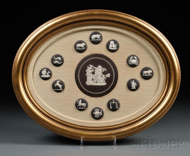 Framed Jasper Medallions