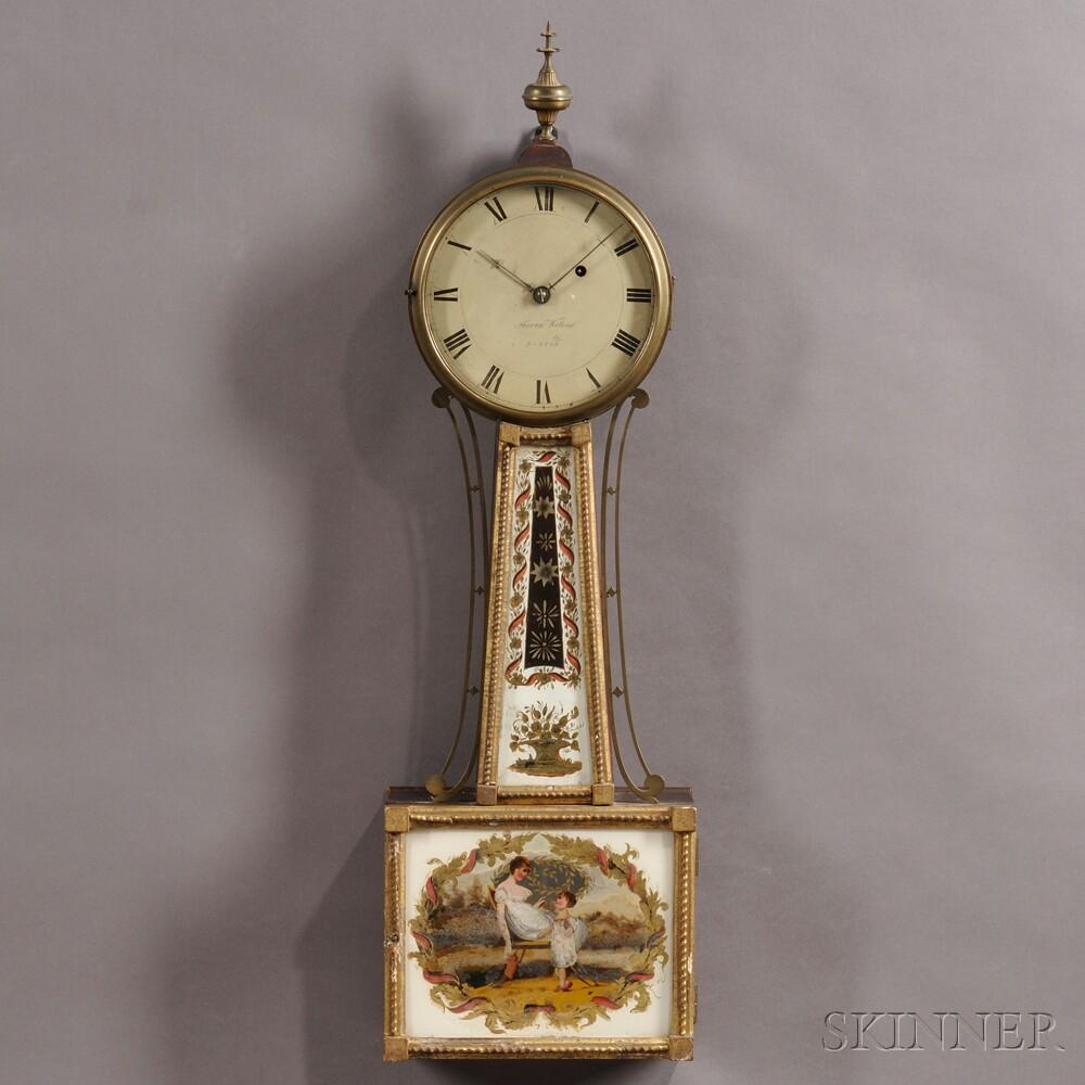 "Aaron Willard Patent Timepiece or ""Banjo"" Clock"