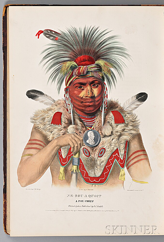 McKenney, Thomas (1785-1859) & Hall, James (1793-1868) History of the Indian Tribes of North America with Biographical Sketches of the
