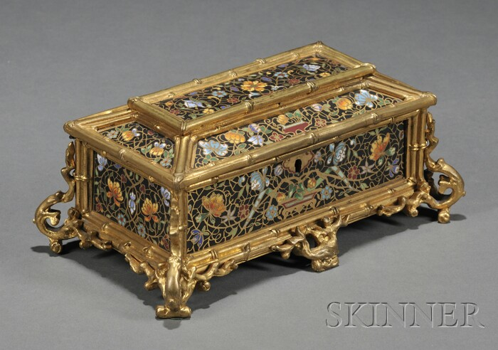 Champleve and Gilt-bronze Box