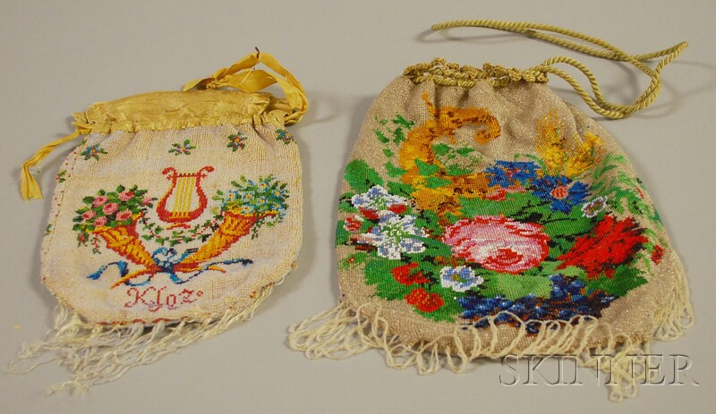 Two Antique Beaded Purses