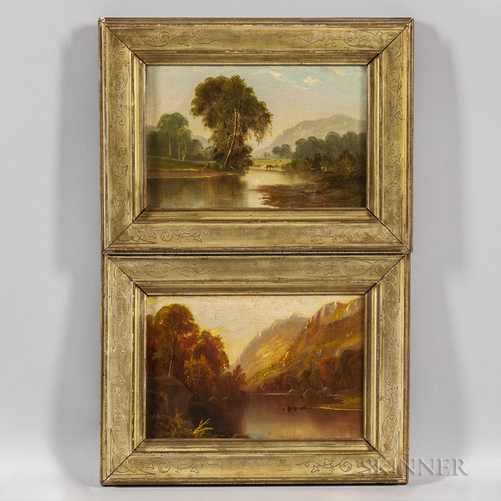 American School, Late 19th Century      Pair of Landscapes