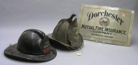 Small Dorchester Mutual Fire Insurance Company Metal Sign,   a Modern Boston Insurance Company