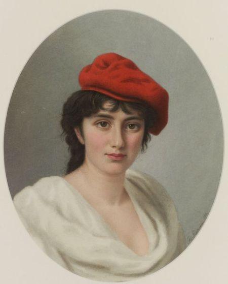 Italian School, 19th Century    The Red Hat