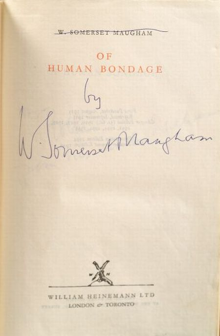 Maugham, William Somerset (1875-1965), Signed copy