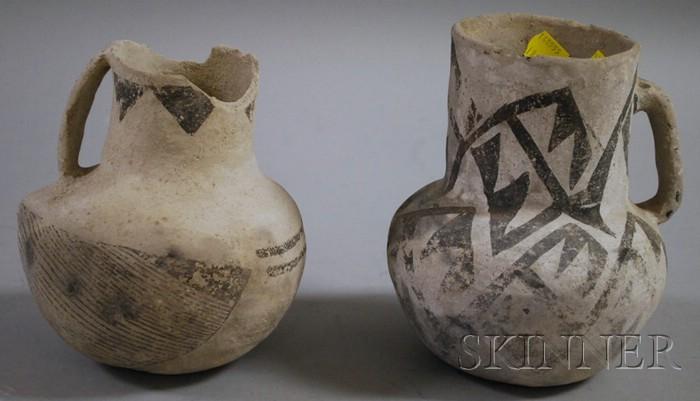 Two Anasazi Pottery Pitchers