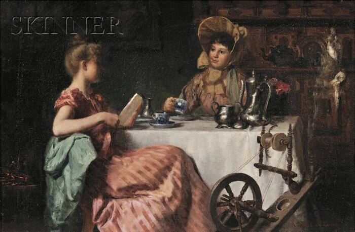 Richard Lionel de Lisser (American, 1849-1907)      Afternoon Tea