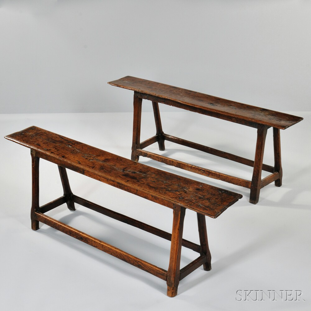 Two Oak Joint Benches