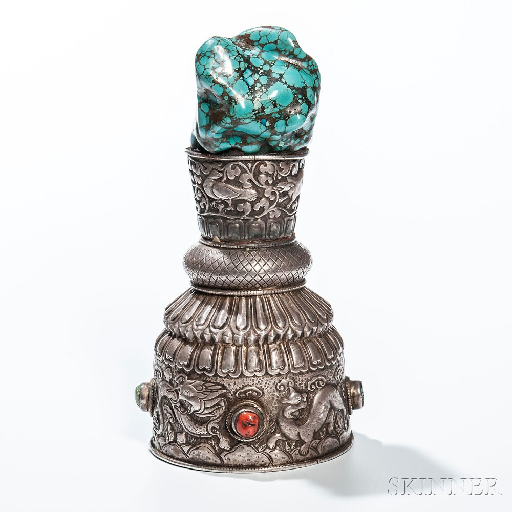 Tribal Silver Repousse Temple Stamp