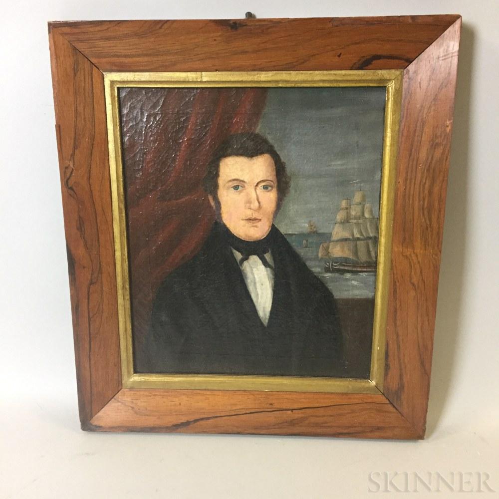 American School, 19th Century       Portrait of Captain Johnson