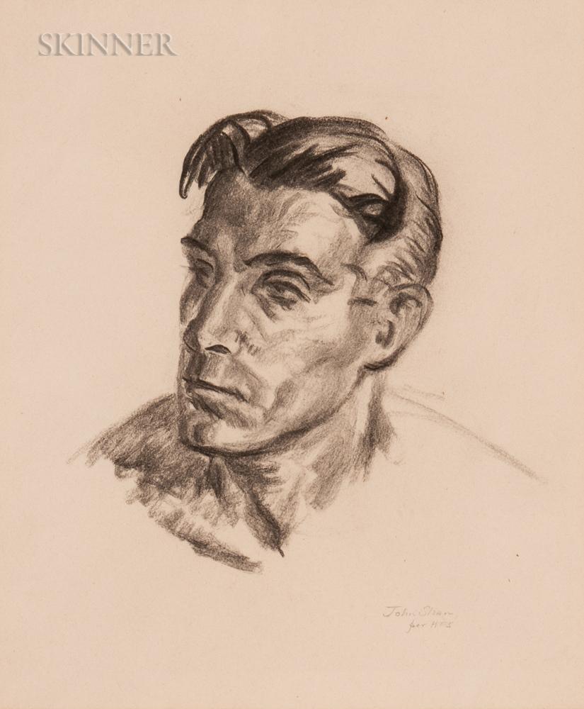 John French Sloan (American, 1871-1951)      Portrait of a Man