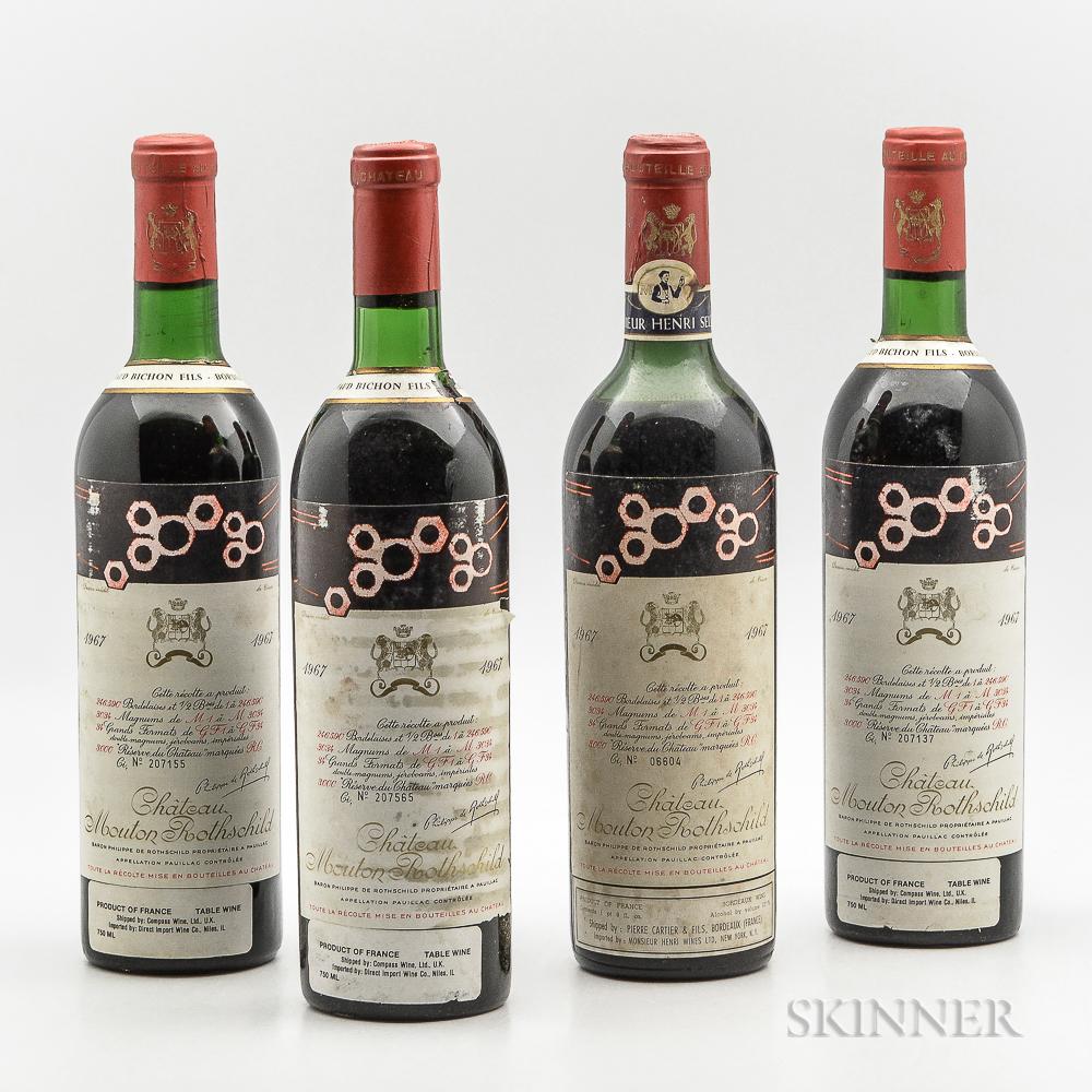 Chateau Mouton Rothschild 1967, 4 bottles