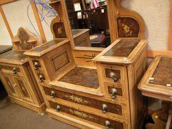 Suite of Victorian Painted Pine Bedroom Furniture