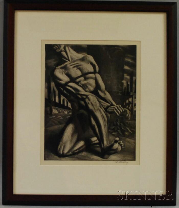 Harry Sternberg (American, 1904-2002)      Enough