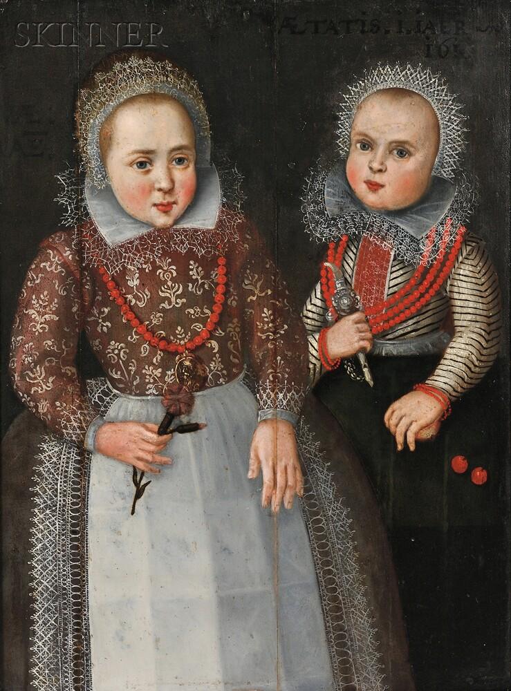 Dutch School, 17th Century      Portrait of Two Sisters