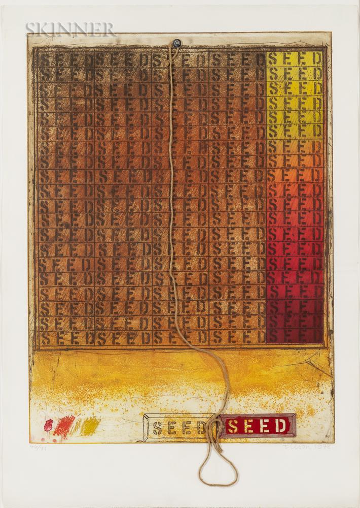 Joe Tilson (British, b. 1928)      Seed Mantra