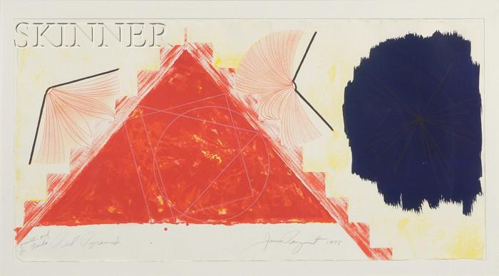 James Rosenquist (American, b. 1933)      Red Pyramid