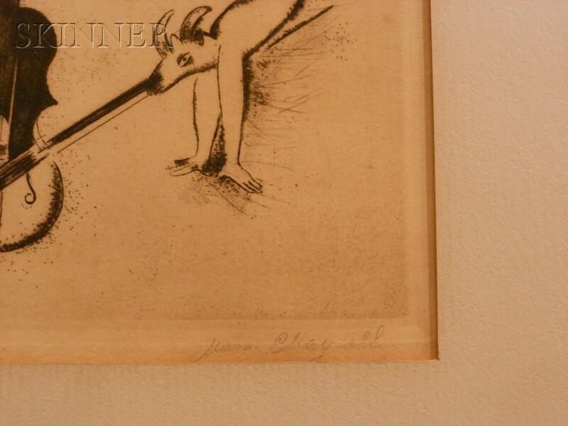 Marc Chagall (Russian/French, 1887-1985)      L'acrobate au violon