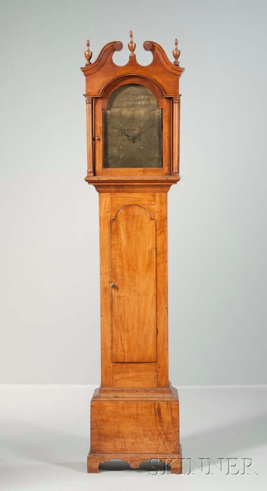 Unsigned New Hampshire Birch Tall Clock