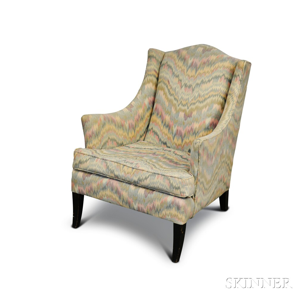 French Flame-stitch-upholstered Armchair
