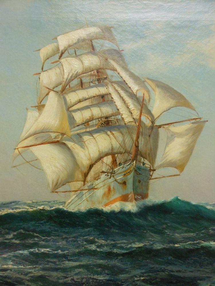 Montague Dawson (British, 1890-1973)      Ship at Sea