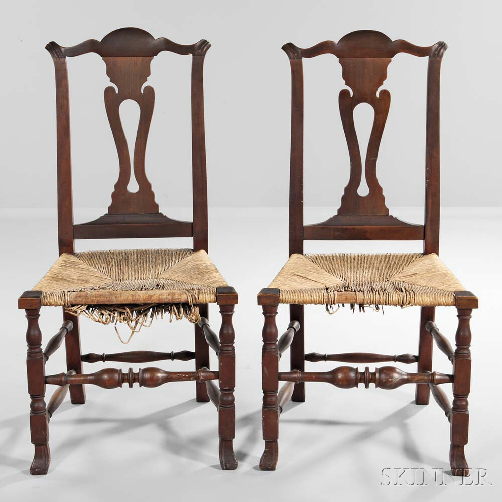 Pair of Cherry Side Chairs