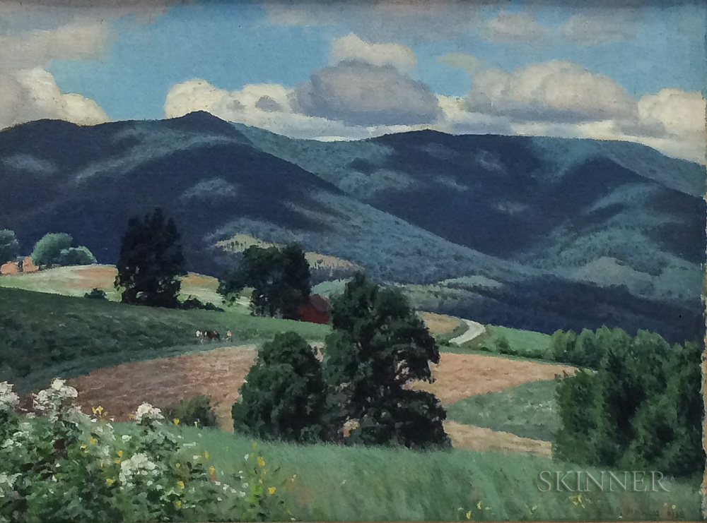 James Perry Wilson (American, 1889-1976)      Summer Landscape, Pownal, Vermont