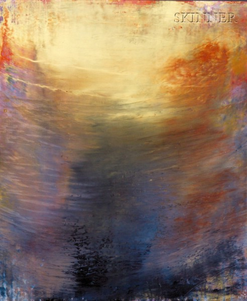 Irene Valincius (German/American, b. 1948)      Abstract Composition, Gold Rays
