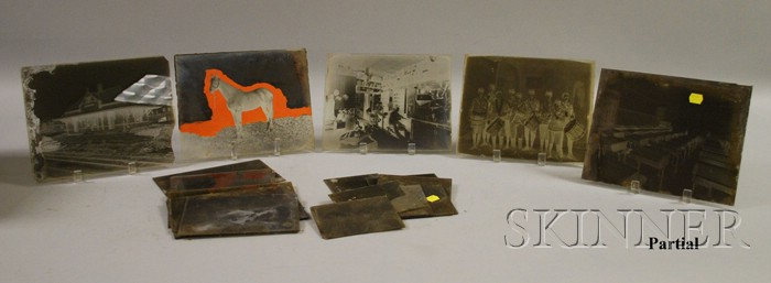 Collection of Late 19th Century Glass Plate Negatives