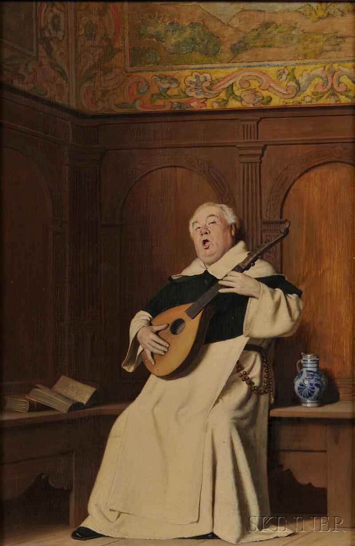 Thure Nikolaus Cederstrom (Swedish, 1843-1924)      A Musical Interlude