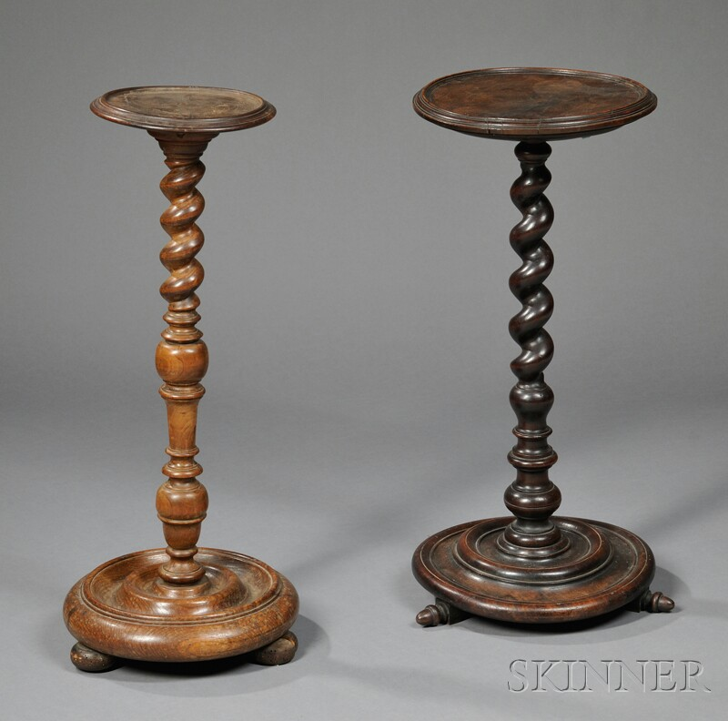 Two Turned Candlestands