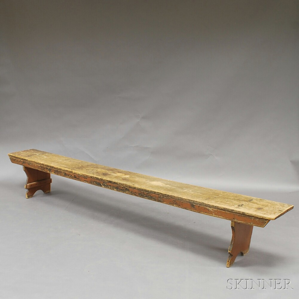Brown-painted Long Bench
