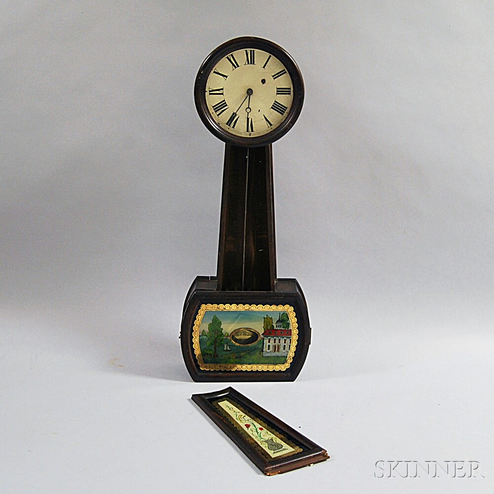 "Grain-painted Patent Timepiece or ""Banjo"" Clock"