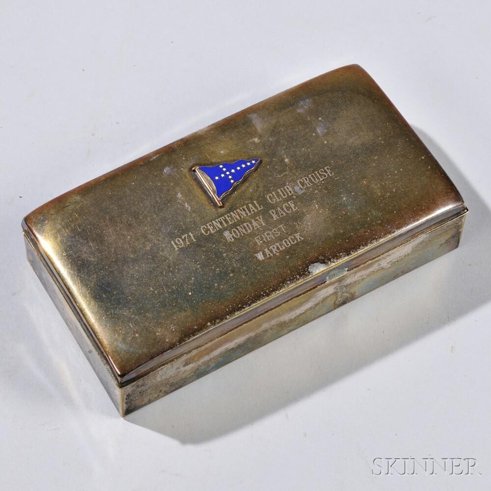 Silver-plated Centennial Club Presentation Cigarette BoxSilver-plated...