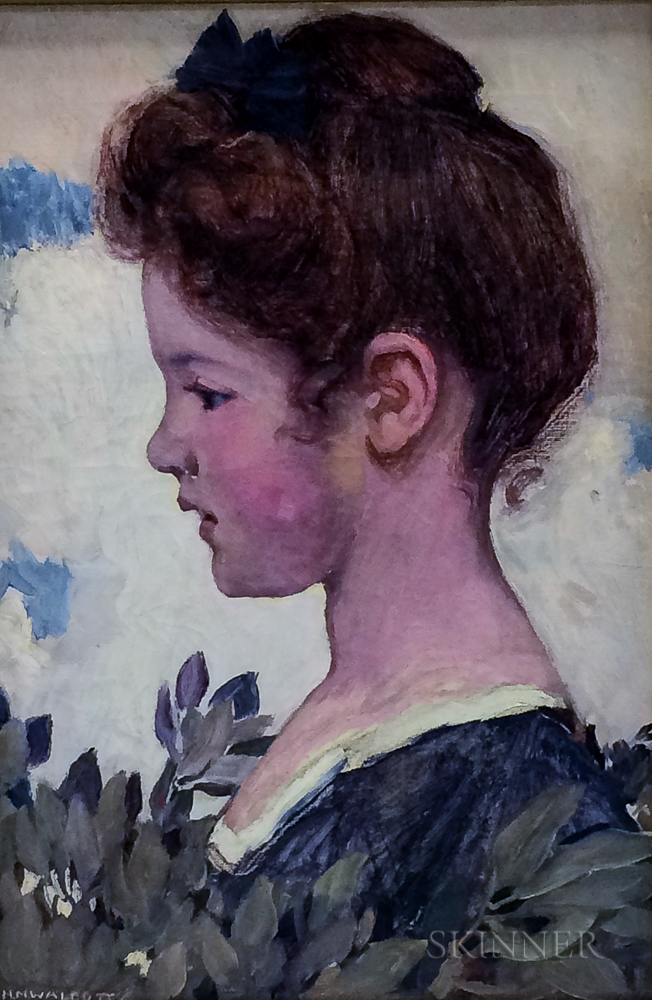 Harry Mills Walcott (American, 1870-1944)      Profile Portrait of a Young Girl