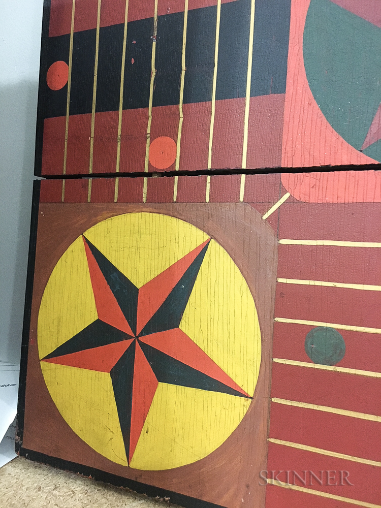 Paint-decorated Parcheesi Board