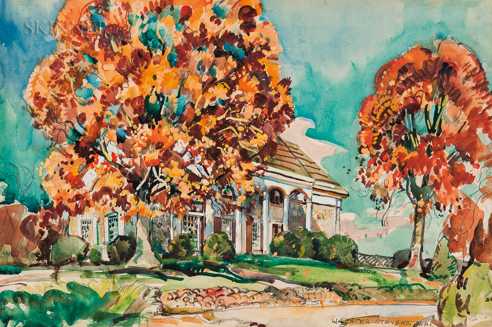 William Lester Stevens (American, 1888-1969)      Merry Hill