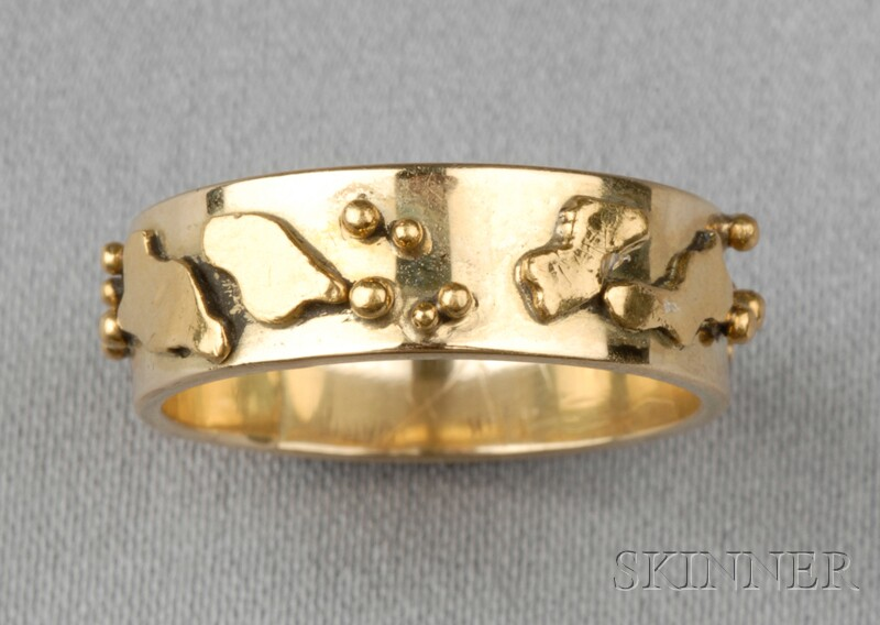 24kt and 18kt Gold Ring, Carriere