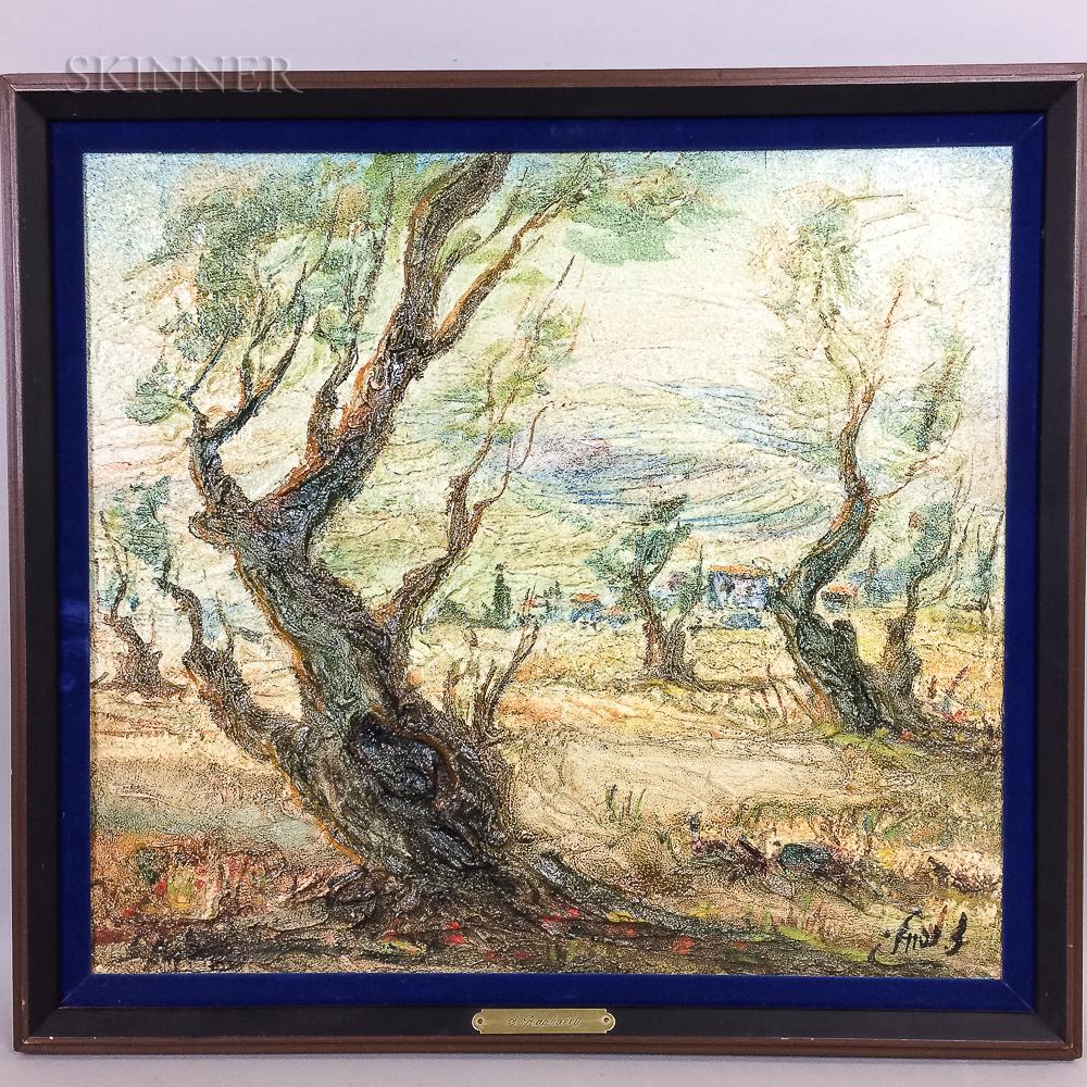 Zvi Raphaeli (Israeli, 1924-2005)      Olive Trees.