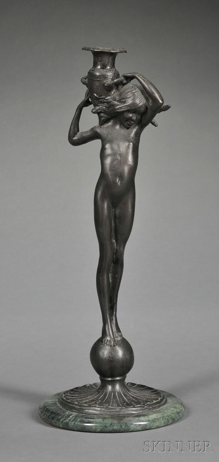 Edward McCartan (American, 1879-1947) Figural Candlestick