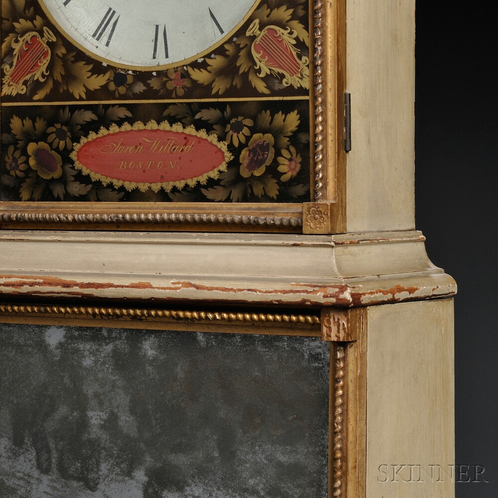 Aaron Willard Federal Painted Shelf Clock