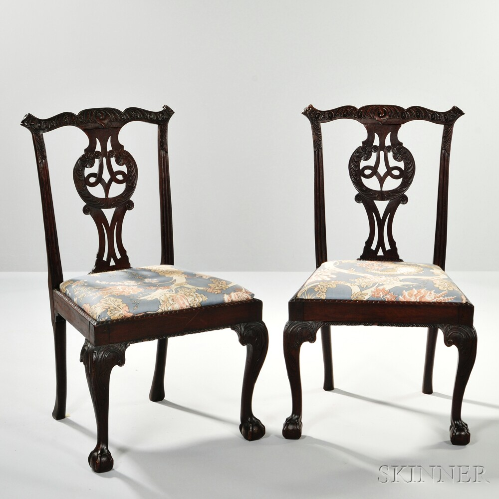 Six Georgian-style Mahogany Side Chairs