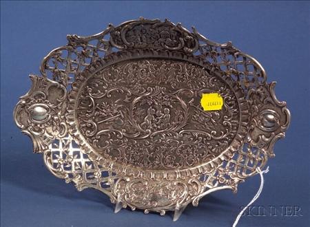 Continental Rococo Revival .800 Silver Dish