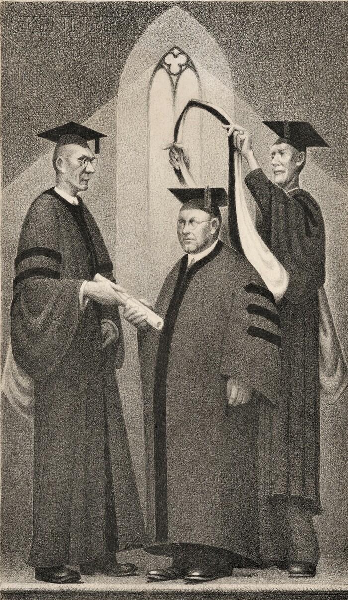 Grant Wood (American, 1891-1942)      Honorary Degree
