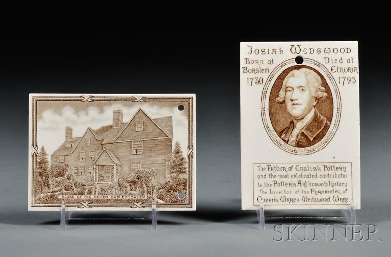 Twenty-eight Wedgwood Queen's Ware Calendar Tiles