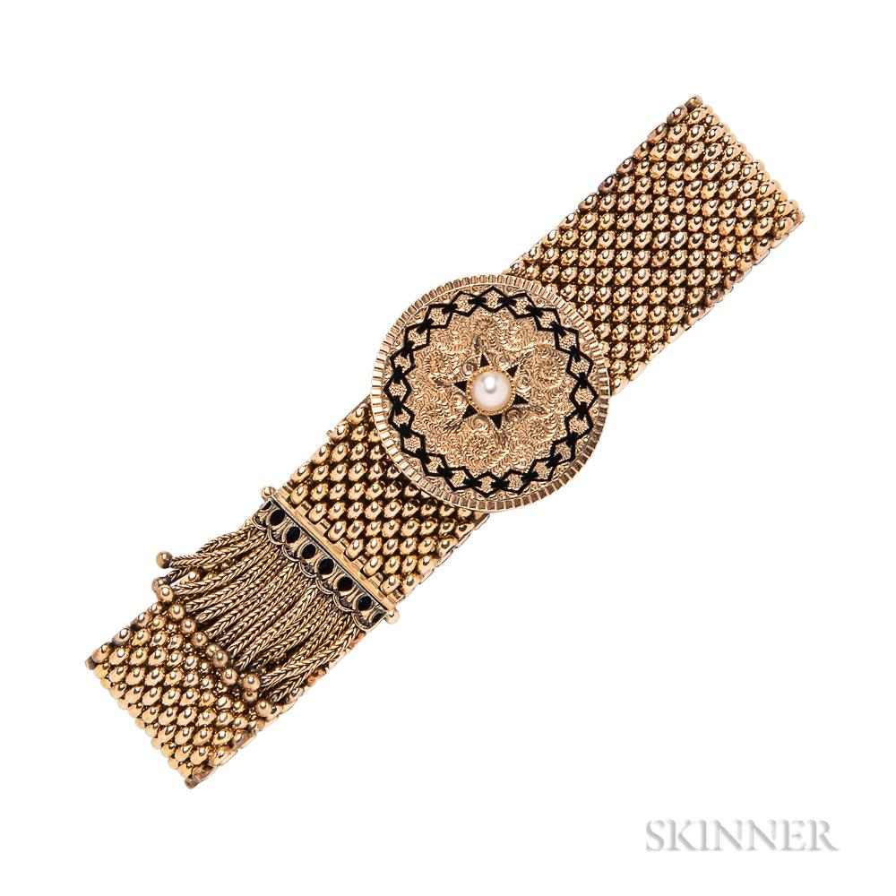 Victorian Gold Slide Bracelet