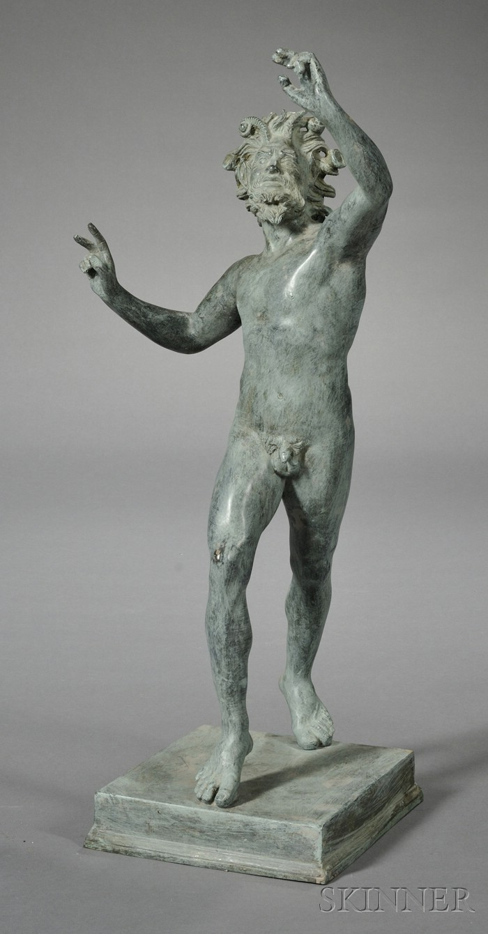 "Grand Tour Bronze of ""The Dancing Faun,"""